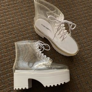 Jeffrey Campbell waterproof fog PVC boots